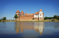 Castle in town Mir of Belarus. Royalty Free Stock Images