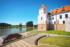 Castle in town Mir of Belarus. Stock Photo