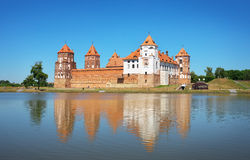 Castle in town Mir of Belarus. Royalty Free Stock Photos