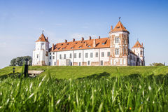 Castle in the town of Mir. Belarus. Stock Images