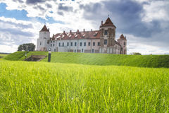 Castle in the town of Mir. Belarus. Royalty Free Stock Photos
