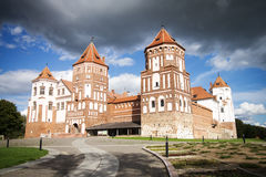 Castle in the town of Mir. Belarus. Stock Photo