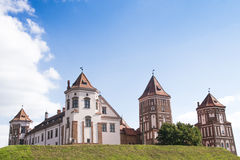 Castle in the town of Mir. Belarus. Stock Photos