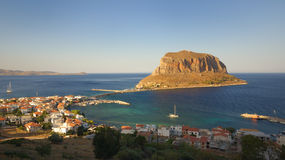 The castle-town of Monemvasia royalty free stock image