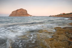 The castle-town of Monemvasia Stock Images