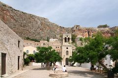 Castle Town of Monemvasia Stock Photos