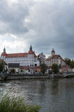 Castle in town Neuburg on River Danube in Bavaria Stock Photography