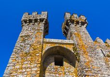 Castle in town Penedono - Portugal stock photography