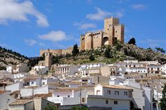 Castle and town Velez Blanco Stock Photography