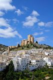 Castle and town Velez Blanco. View of the castle (castillo de los Fajardo) and town, Velez Blanco, Almeria Province, Andalusia, Spain, Western Europe Royalty Free Stock Images