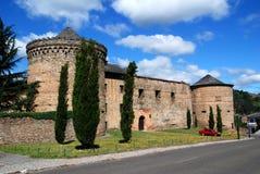Castle in town Villafranca del Bierzo Stock Image
