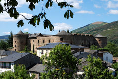 Castle in town Villafranca del Bierzo Royalty Free Stock Photography