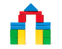 Castle Toy Blocks Stock Photo