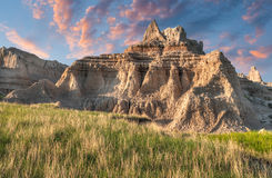 Castle Trail Dawn - Grass and Rock Royalty Free Stock Photo