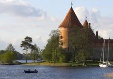 Castle in Trakai stock photo