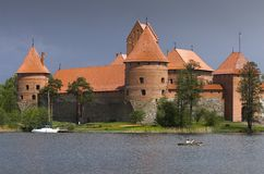 Castle in Trakai Royalty Free Stock Images