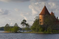 Castle in Trakai Royalty Free Stock Photography