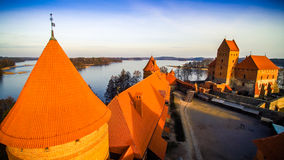 The castle of Trakai Stock Photo