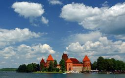 Castle Trakai. Europe - Lithuania historic castle located on an island in the town of Trakai royalty free stock photo