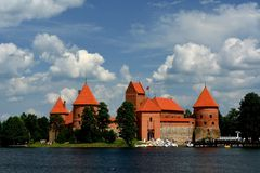 Castle Trakai. Europe - Lithuania historic castle located on an island in the town of Trakai royalty free stock photography