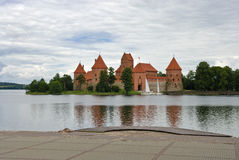 Castle of Trakai in Lithuania Stock Image