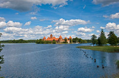 Castle, Trakai, Lithuania. Stock Photography