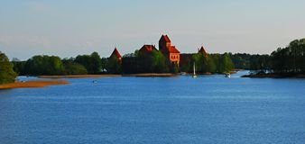Castle of Trakai. In Lithuania Stock Photos
