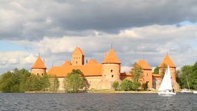 Castle of Trakai, Lithuania. Castle of Trakai, Vilnius Lithuania stock footage