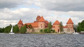 Castle of Trakai, Lithuania stock footage