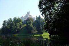 Castle Trakoscan στην Κροατία στοκ εικόνα
