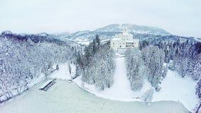 Castle Trakoscan aeiral wide shot stock footage