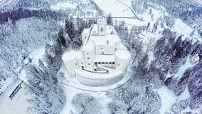 Castle Trakoscan in Croatia. Gopro 4 quadcopter aerial view of the old castle Trakoscan in Croatia, built around 1334 as a Croatia's northwestern fortification stock footage