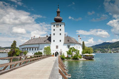 Castle on Traunsee lake Royalty Free Stock Photo