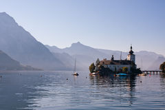 Castle on Traunsee lake in Austria Stock Images