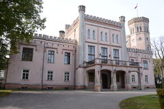 Castle travel in Latvia. Beautiful castle in Latvia , Vecauce stock photos