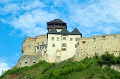 Castle in trencin stock photography