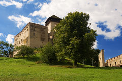 The castle Trencin Stock Images