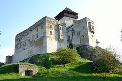 Castle. Trencin Castle in Slovakia suitable as abstract background Royalty Free Stock Photo