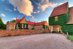 Castle Trolle-Ljungby in Sweden. Castle Trolle-Ljungby at sunset in southern Sweden Royalty Free Stock Photography