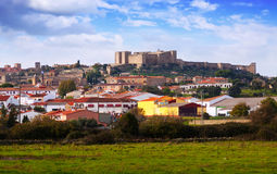 Castle of Trujillo in autumn Royalty Free Stock Photography