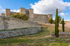 Castle of Trujillo,. A medieval village in the province of Caceres, Spain Stock Images