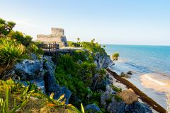 The Castle at Tulum stock photography