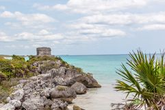 The Castle at Tulum Ruins, Quintana Roo. Mexico stock image