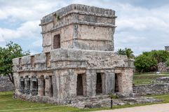 The Castle at Tulum Ruins, Quintana Roo. Mexico royalty free stock photo