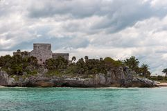 The Castle at Tulum Ruins, Quintana Roo stock images