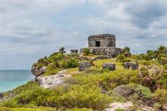 The Castle at Tulum Ruins, Quintana Roo. Mexico stock photos