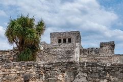 The Castle at Tulum Ruins, Quintana Roo. Mexico stock photography