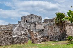 The Castle at Tulum Ruins, Quintana Roo. Mexico stock photo
