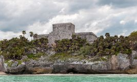 The Castle at Tulum Ruins, Quintana Roo. Mexico stock images