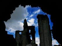 Castle Through The Tunnel. Taken in England, Corfe Castle stock photos